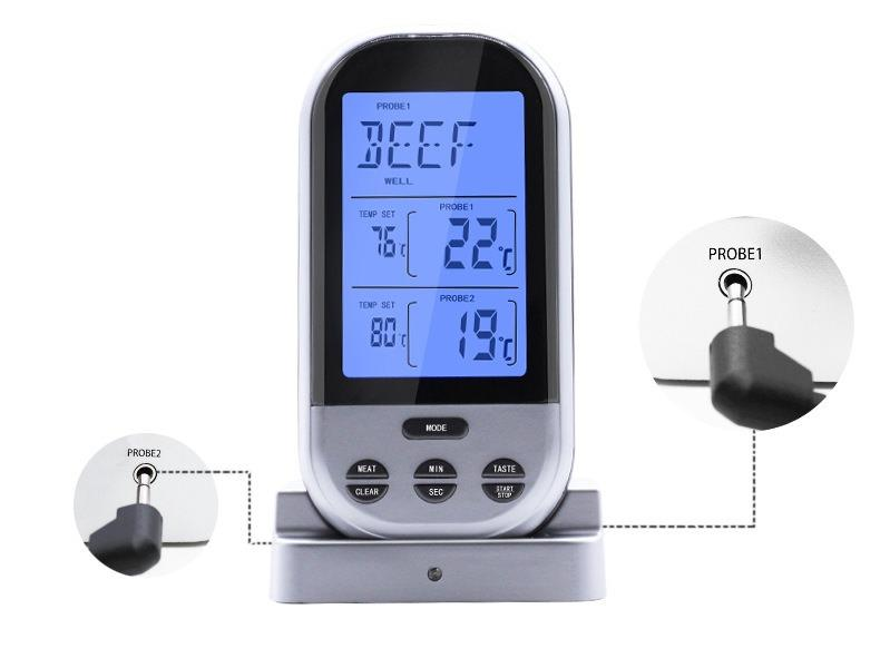 besprovodnoj jelektronnyj termometr dlja prigotovlenija mjasa skanus meat s dvojnym shhupom 07 - Беспроводной электронный термометр для мяса Skanus Meat Pro с двумя радио щупами