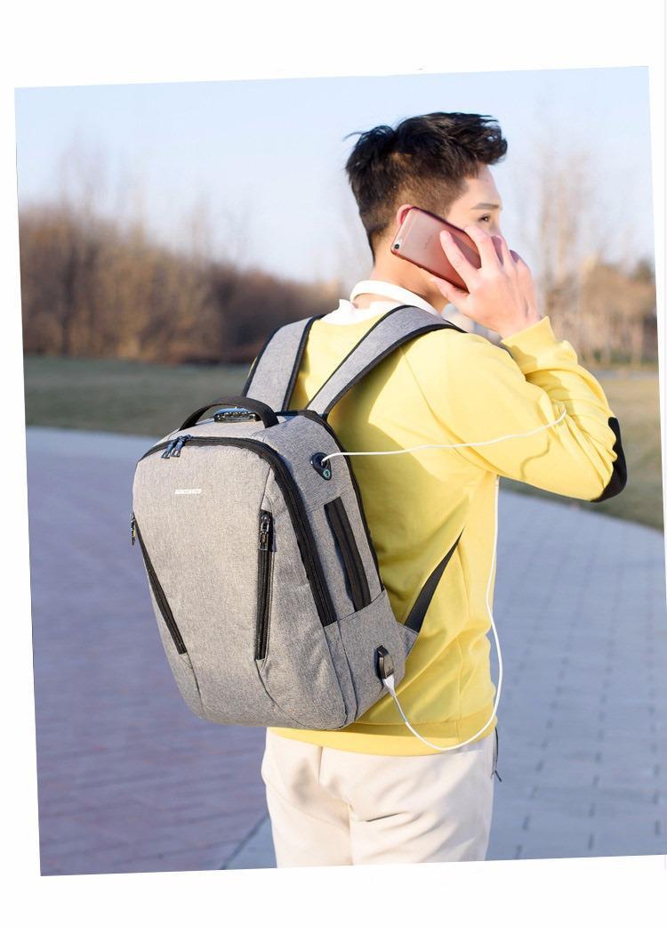 gorodskoj usb rjukzak new era so vstroennym usb portom i kodovym zamkom 12 - Городской USB-рюкзак со встроенным USB-портом и кодовым замком New Era