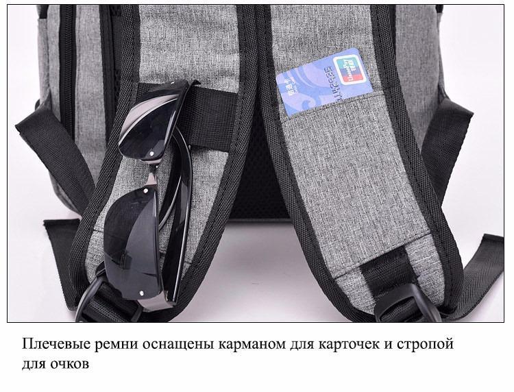 gorodskoj usb rjukzak new era so vstroennym usb portom i kodovym zamkom 13 - Городской USB-рюкзак со встроенным USB-портом и кодовым замком New Era