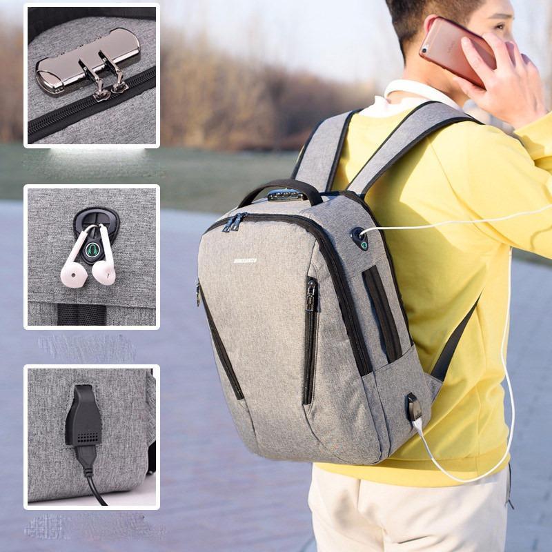 Городской USB-рюкзак со встроенным USB-портом и кодовым замком New Era 218025