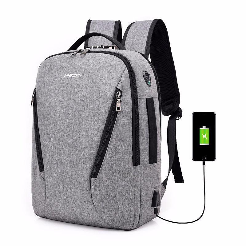 Городской USB-рюкзак со встроенным USB-портом и кодовым замком New Era