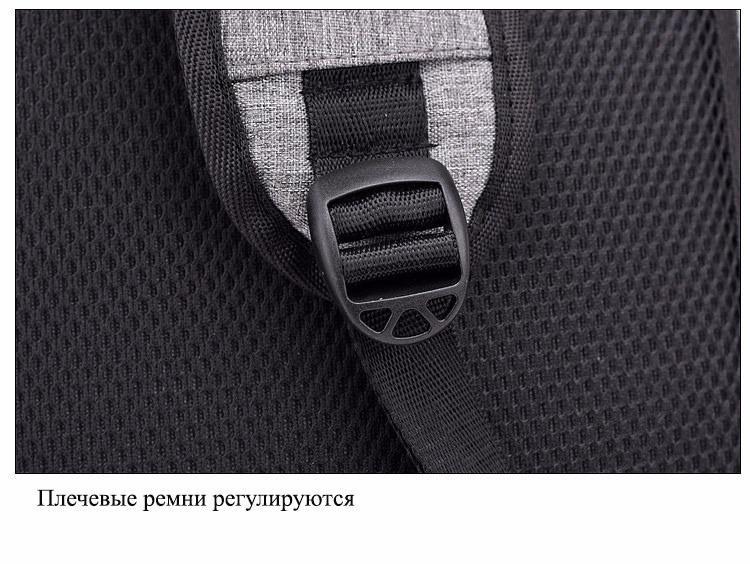 gorodskoj usb rjukzak new era so vstroennym usb portom i kodovym zamkom 37 - Городской USB-рюкзак со встроенным USB-портом и кодовым замком New Era