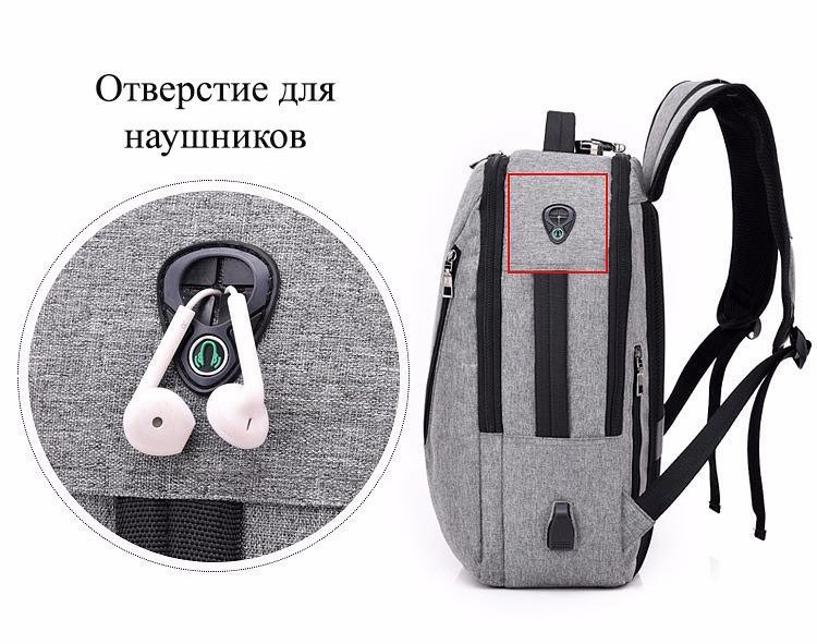 gorodskoj usb rjukzak new era so vstroennym usb portom i kodovym zamkom 40 - Городской USB-рюкзак со встроенным USB-портом и кодовым замком New Era