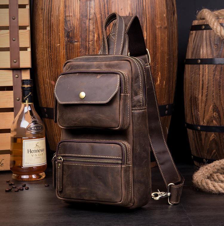 Мужская сумка-рюкзак ManTime Rain из натуральной кожи Crazy Horse 217563