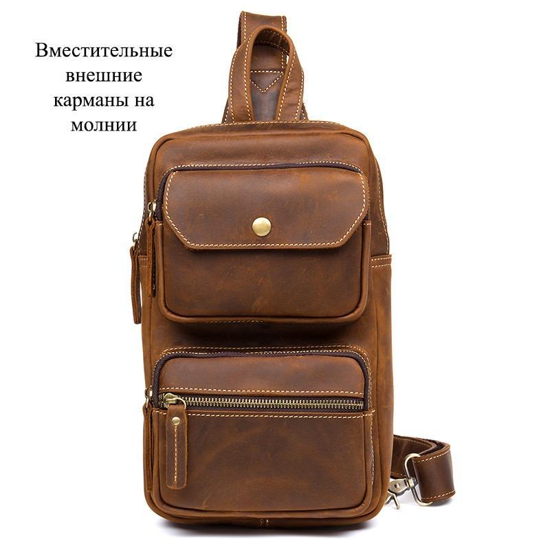 Мужская сумка-рюкзак ManTime Rain из натуральной кожи Crazy Horse 217564
