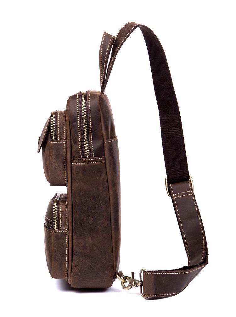 muzhskaja sumka rjukzak mantime rain iz naturalnoj kozhi crazy horse 23 - Мужская сумка-рюкзак ManTime Rain из натуральной кожи Crazy Horse