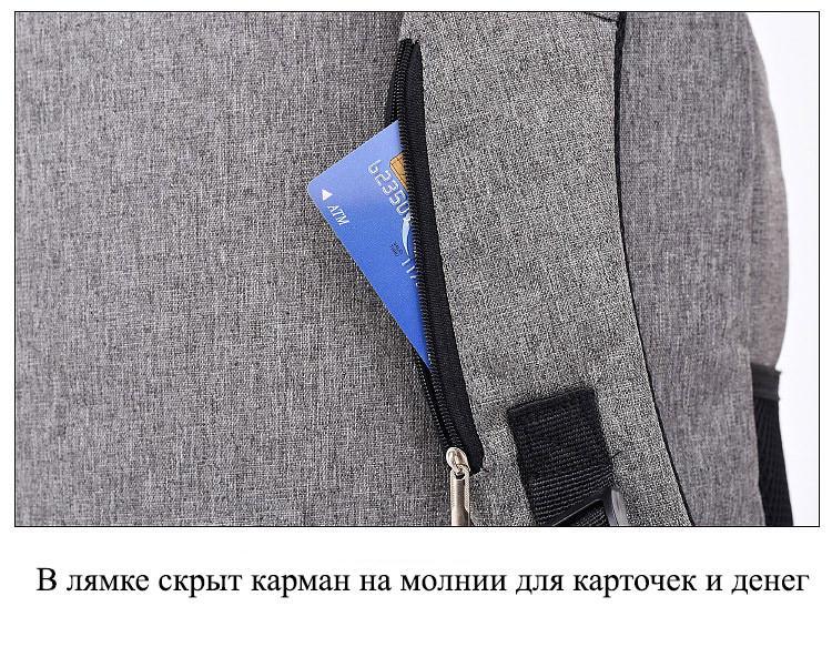 umnyj usb rjukzak s zashhitoj ot vorov bobby d 822 15 - Умный USB-рюкзак Bobby D-822 (встроенный USB-порт)