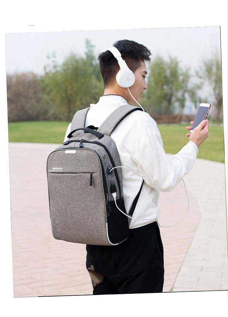umnyj usb rjukzak s zashhitoj ot vorov bobby d 822 49 - Умный USB-рюкзак Bobby D-822 (встроенный USB-порт)
