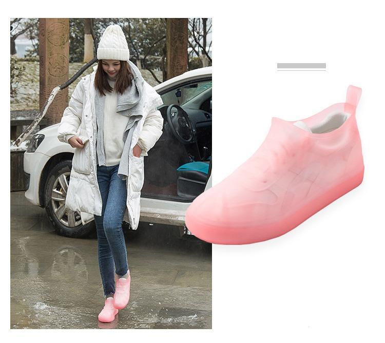 Водонепроницаемые чехлы на обувь от дождя (многоразовые бахилы/ драйстепперы) Rain Age: размеры 33-44