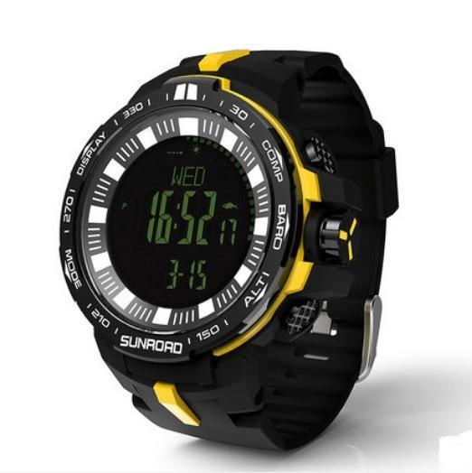 Водонепроницаемые спортивные часы Sunroad Digital FR861 B – компас, альтиметр, барометр, шагомер, счетчик калорий