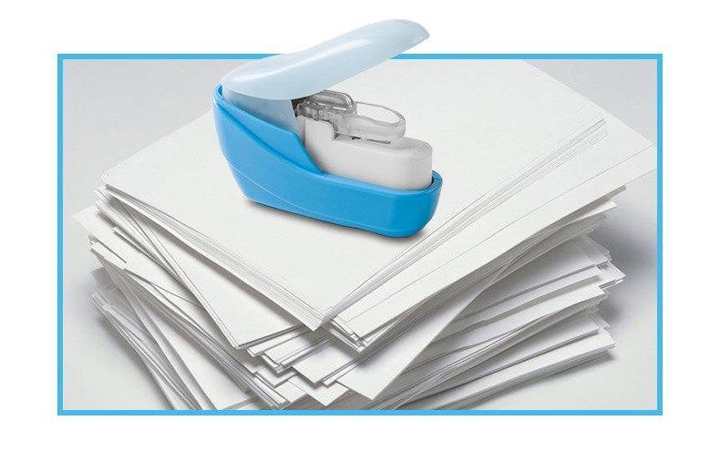 Японский бесскобочный степлер, скрепляющий листы без скрепок (степлер без скоб) KW-TRIO