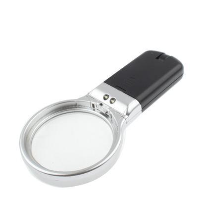 karmannaja lupa s podsvetkoj uvelichitel 3h 6h 04 - Цифровая лупа с подсветкой: увеличитель 3х, держатель для стола, 2 светодиода