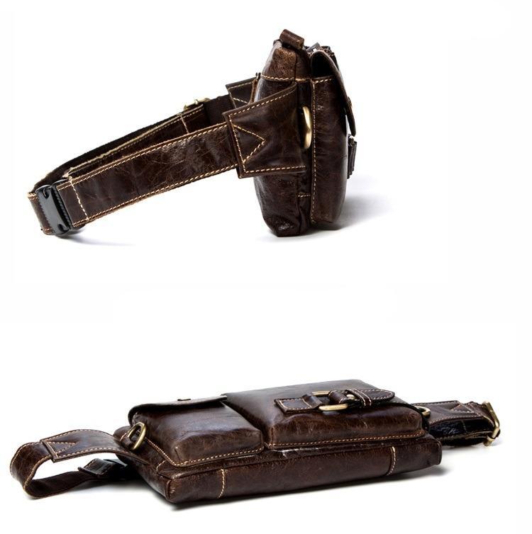 Мужская поясная сумка ManTime Lemme из натуральной кожи 219471