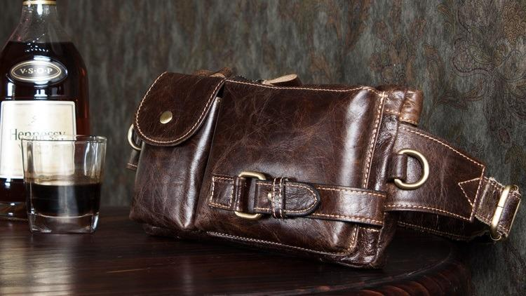 muzhskaja pojasnaja sumka mantime lemme iz naturalnoj kozhi 13 - Мужская поясная сумка ManTime Lemme из натуральной кожи