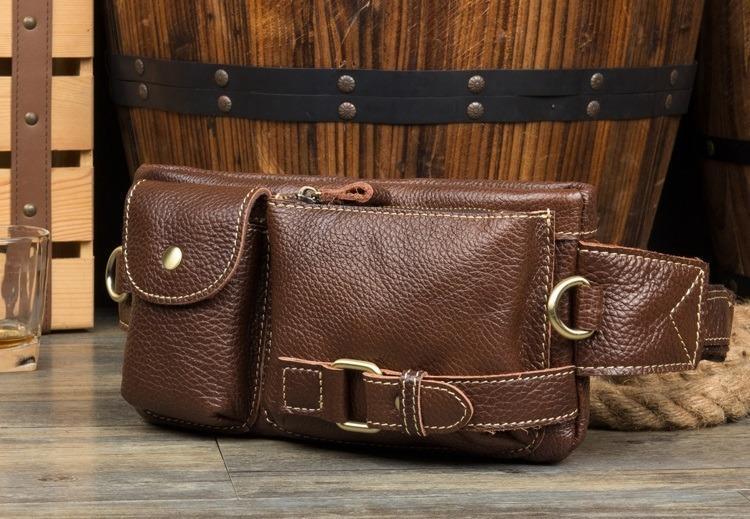 Мужская поясная сумка ManTime Lemme из натуральной кожи