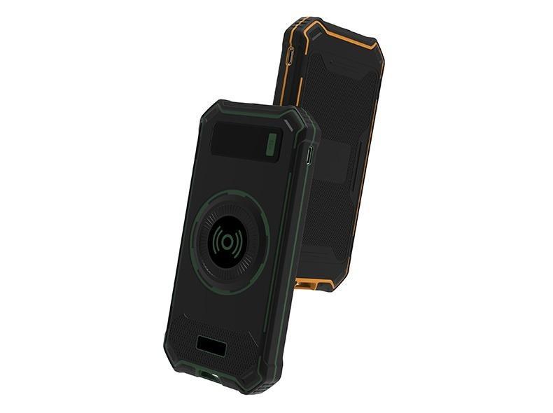 besprovodnaja qi zarjadka s funkciej paver banka 10000 mach 04 - Беспроводная Qi зарядка с функцией павер-банка 10000 мАч: 2 х USB (2А), Micro USB вход 2А