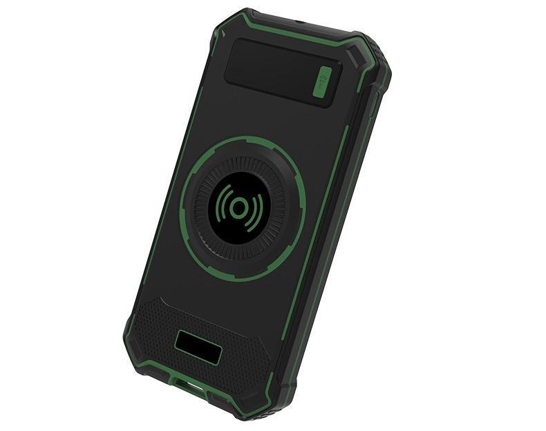 besprovodnaja qi zarjadka s funkciej paver banka 10000 mach 06 - Беспроводная Qi зарядка с функцией павер-банка 10000 мАч: 2 х USB (2А), Micro USB вход 2А