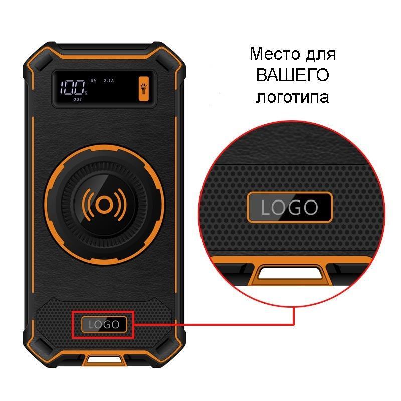 Беспроводная Qi зарядка с функцией павер-банка 10000 мАч: 2 х USB (2А), Micro USB вход 2А 219780