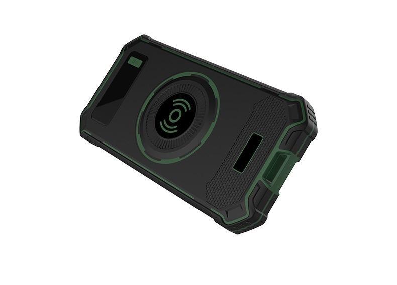 besprovodnaja qi zarjadka s funkciej paver banka 10000 mach 15 - Беспроводная Qi зарядка с функцией павер-банка 10000 мАч: 2 х USB (2А), Micro USB вход 2А