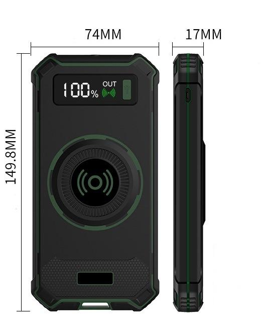 besprovodnaja qi zarjadka s funkciej paver banka 10000 mach 19 - Беспроводная Qi зарядка с функцией павер-банка 10000 мАч: 2 х USB (2А), Micro USB вход 2А