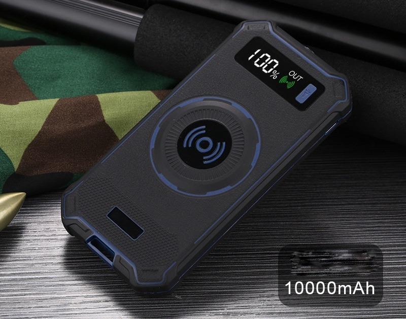 besprovodnaja qi zarjadka s funkciej paver banka 10000 mach 28 - Беспроводная Qi зарядка с функцией павер-банка 10000 мАч: 2 х USB (2А), Micro USB вход 2А