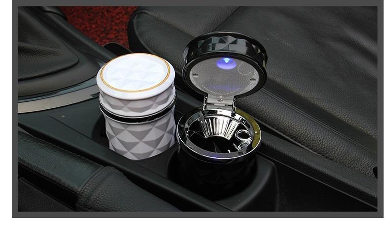 pepelnica dlja avtomobilja s podsvetkoj lsq 02 - Пепельница для автомобиля с подсветкой LSQ: крышка, держатель для сигарет