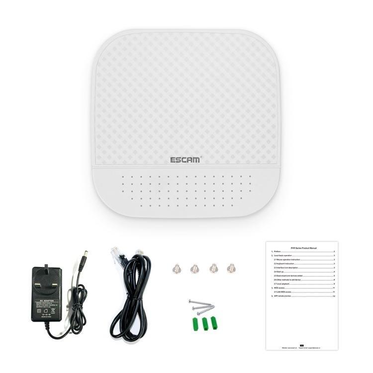 Сетевой видеорегистратор NVR ESCAM PVR208: 8CH Onvif + 2CH облачных канала (поддержка 10 IP-камер) 1080P 220476
