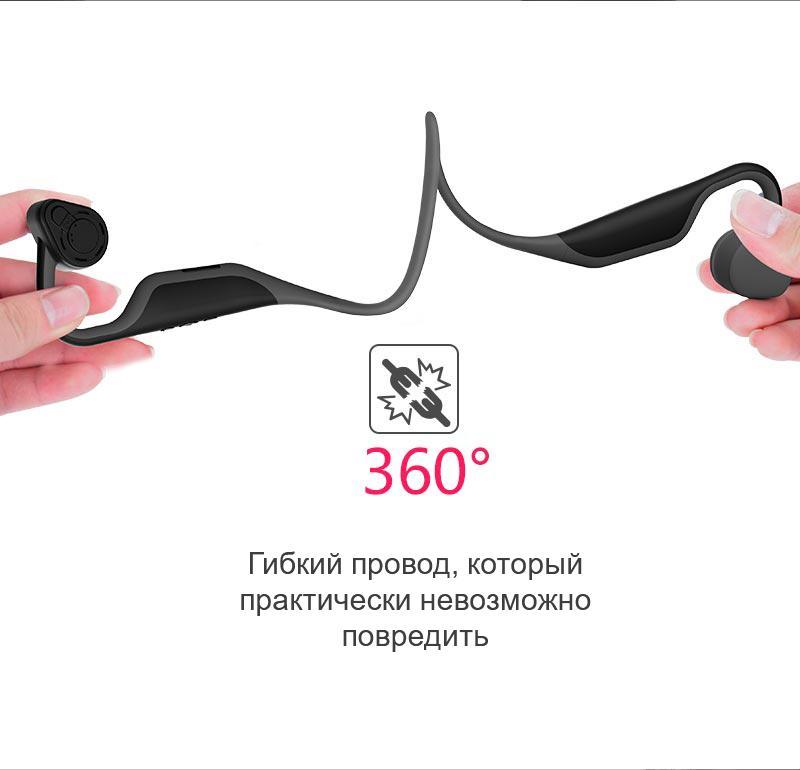 besprovodnye kostnye naushniki l u bh128 s zashhitoj ot pota 01 - Беспроводные костные наушники L&U BH128 с защитой от пота