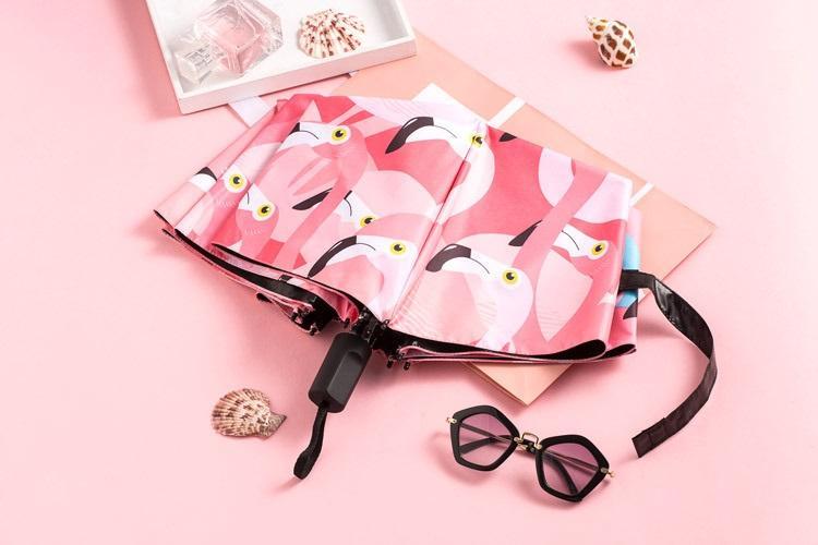 jarkij zhenskij zont s flamingo rose dream 08 - Яркий женский зонт с фламинго Rose Dream