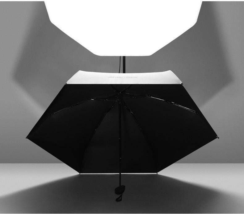 ploskij odnotonnyj zont zhenskij muzhskoj mukai ploskaja ruchka spf 50 12 - Плоский однотонный зонт (женский/ мужской) Mukai (плоская ручка, SPF 50)