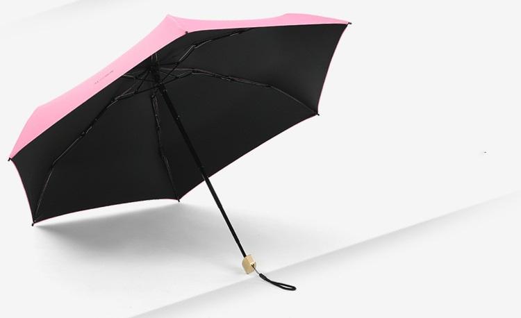 ploskij odnotonnyj zont zhenskij muzhskoj mukai ploskaja ruchka spf 50 19 - Плоский однотонный зонт (женский/ мужской) Mukai (плоская ручка, SPF 50)