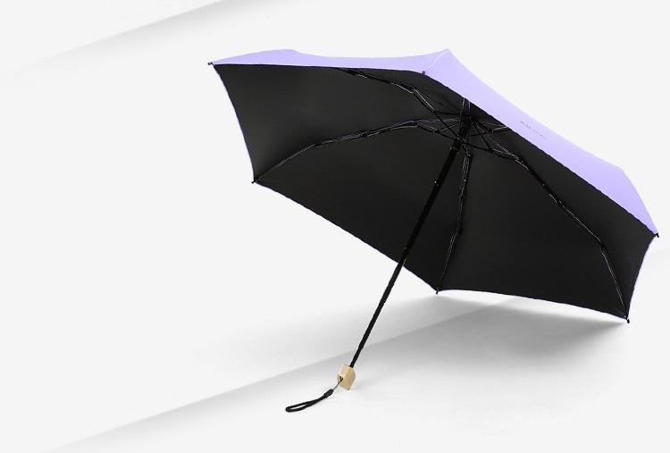 ploskij odnotonnyj zont zhenskij muzhskoj mukai ploskaja ruchka spf 50 21 - Плоский однотонный зонт (женский/ мужской) Mukai (плоская ручка, SPF 50)