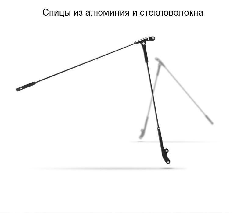 ploskij odnotonnyj zont zhenskij muzhskoj mukai ploskaja ruchka spf 50 26 - Плоский однотонный зонт (женский/ мужской) Mukai (плоская ручка, SPF 50)
