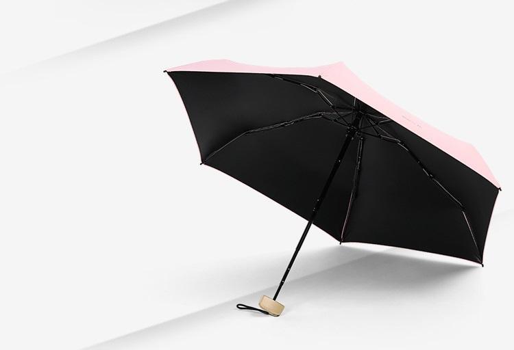 ploskij odnotonnyj zont zhenskij muzhskoj mukai ploskaja ruchka spf 50 31 - Плоский однотонный зонт (женский/ мужской) Mukai (плоская ручка, SPF 50)