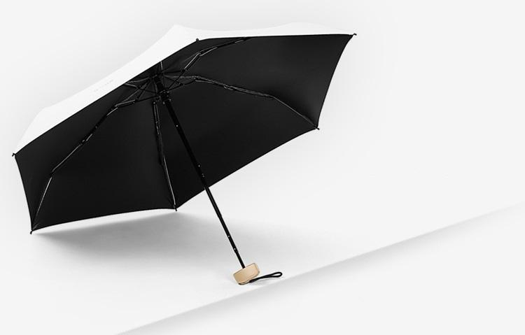 ploskij odnotonnyj zont zhenskij muzhskoj mukai ploskaja ruchka spf 50 32 - Плоский однотонный зонт (женский/ мужской) Mukai (плоская ручка, SPF 50)