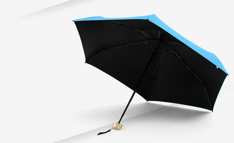 ploskij odnotonnyj zont zhenskij muzhskoj mukai ploskaja ruchka spf 50 33 - Плоский однотонный зонт (женский/ мужской) Mukai (плоская ручка, SPF 50)