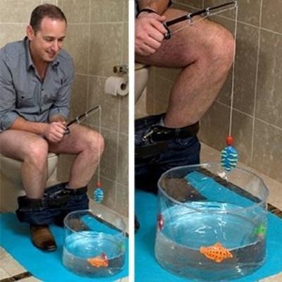 Расслабляющая антистресс игра Рыбалка для туалета