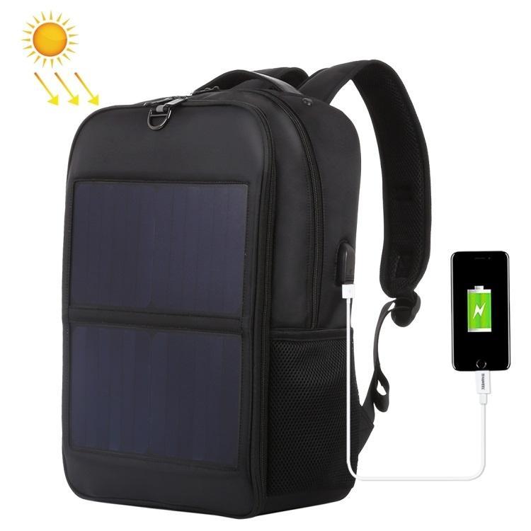 Рюкзак с солнечной батареей 14Вт HAWEEL L2180B с ручкой и зарядным USB-портом