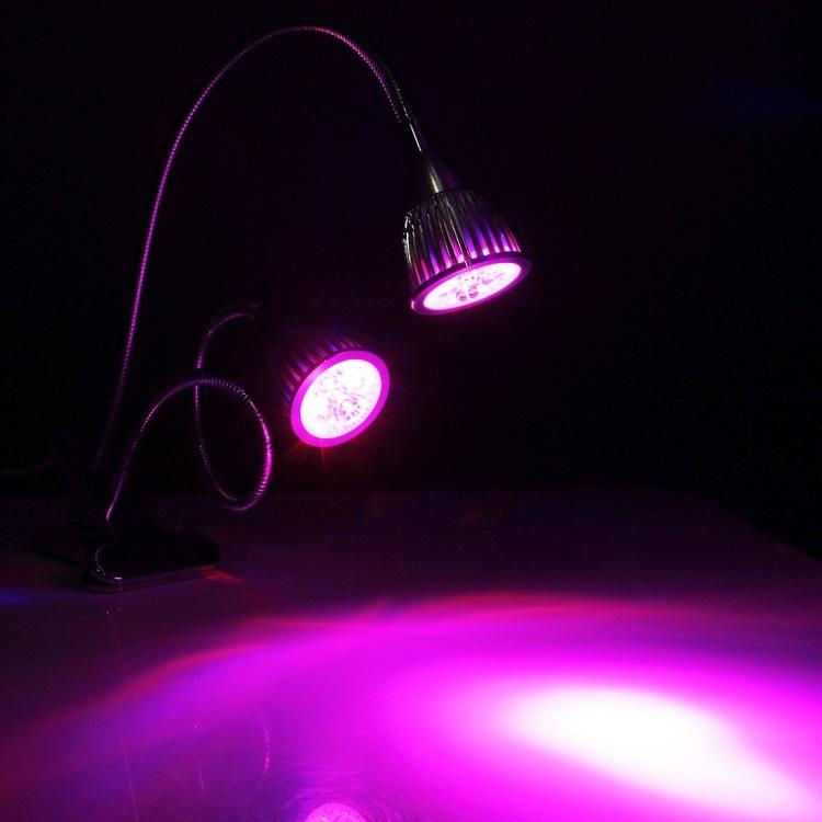 svetodiodnaja fitolampa dlja rastenij 2 v 1 10 vt 10 svetodiodov 10 - Светодиодная фитолампа для растений 2 в 1 (10 Вт, 10 светодиодов)