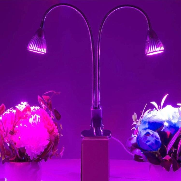 Светодиодная фитолампа для растений 2 в 1 (10 Вт, 10 светодиодов)