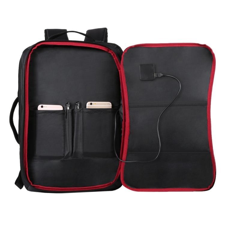 usb rjukzak s solnechnoj batareej 14vt haweel 2170b 02 - USB-рюкзак с солнечной батареей 14Вт HAWEEL 2170B с USB-портом и гибкой солнечной панелью