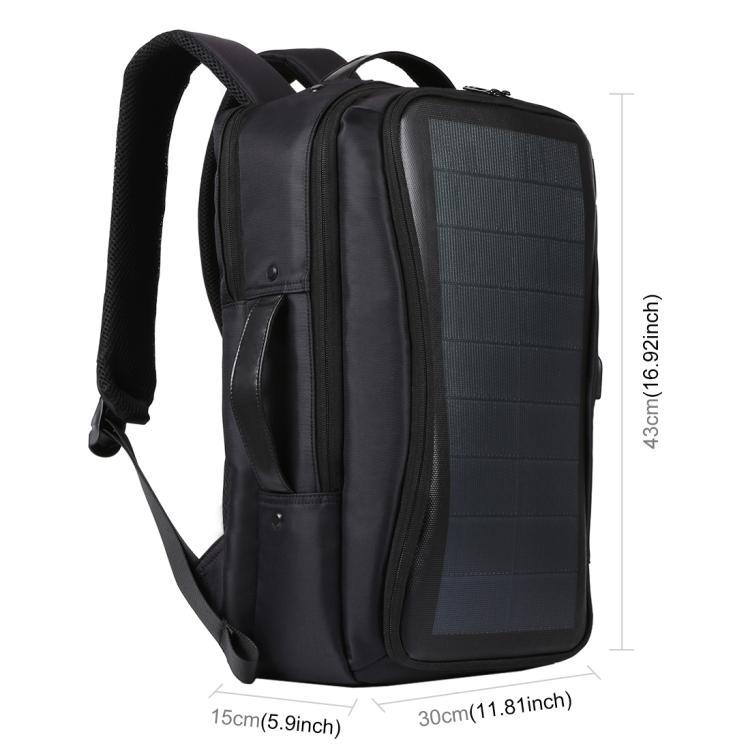 usb rjukzak s solnechnoj batareej 14vt haweel 2170b 03 - USB-рюкзак с солнечной батареей 14Вт HAWEEL 2170B с USB-портом и гибкой солнечной панелью