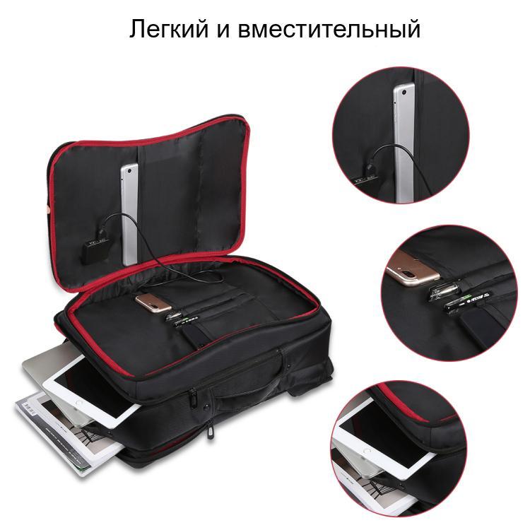 usb rjukzak s solnechnoj batareej 14vt haweel 2170b 04 - USB-рюкзак с солнечной батареей 14Вт HAWEEL 2170B с USB-портом и гибкой солнечной панелью