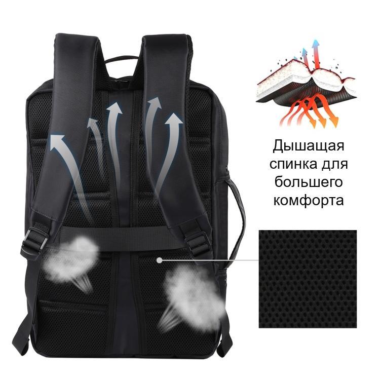 usb rjukzak s solnechnoj batareej 14vt haweel 2170b 05 - USB-рюкзак с солнечной батареей 14Вт HAWEEL 2170B с USB-портом и гибкой солнечной панелью