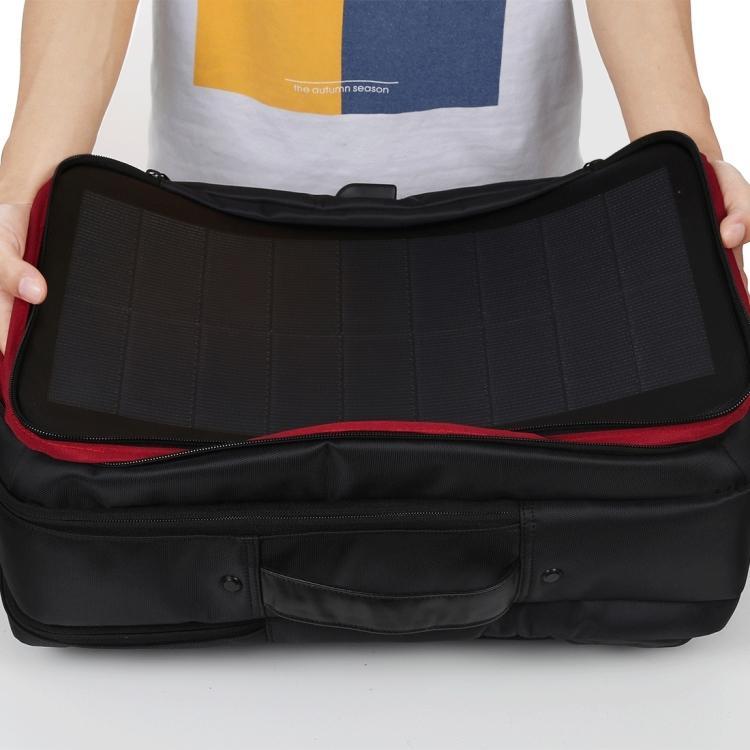 usb rjukzak s solnechnoj batareej 14vt haweel 2170b 09 - USB-рюкзак с солнечной батареей 14Вт HAWEEL 2170B с USB-портом и гибкой солнечной панелью