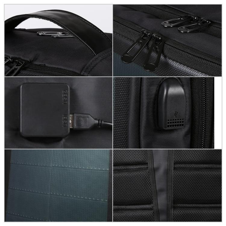 usb rjukzak s solnechnoj batareej 14vt haweel 2170b 11 - USB-рюкзак с солнечной батареей 14Вт HAWEEL 2170B с USB-портом и гибкой солнечной панелью