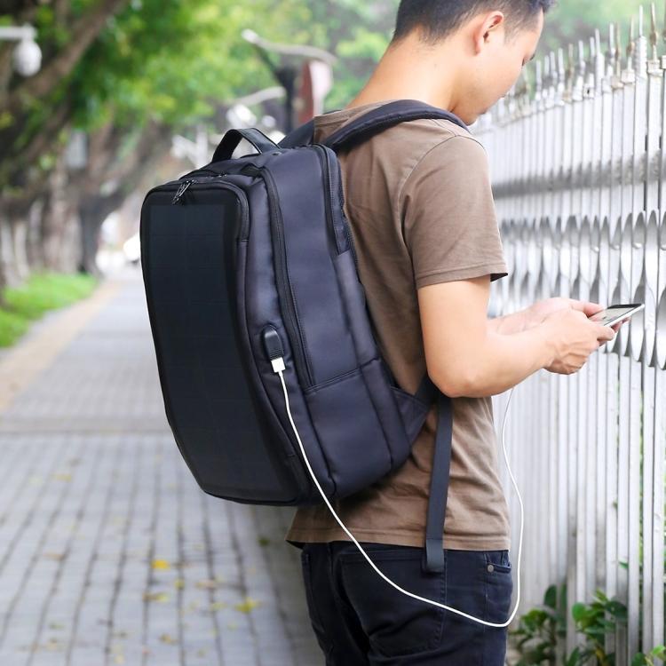 usb rjukzak s solnechnoj batareej 14vt haweel 2170b 13 - USB-рюкзак с солнечной батареей 14Вт HAWEEL 2170B с USB-портом и гибкой солнечной панелью