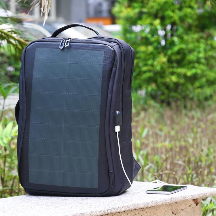 usb rjukzak s solnechnoj batareej 14vt haweel 2170b 14 - USB-рюкзак с солнечной батареей 14Вт HAWEEL 2170B с USB-портом и гибкой солнечной панелью
