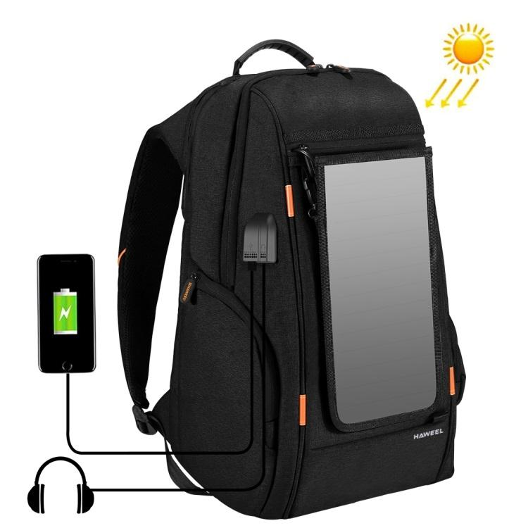 vodozashhishhennyj usb rjukzak s solnechnoj panelju 7vt haweel 2160l 01 - Водозащищенный USB-рюкзак с солнечной панелью 7Вт HAWEEL 2160L