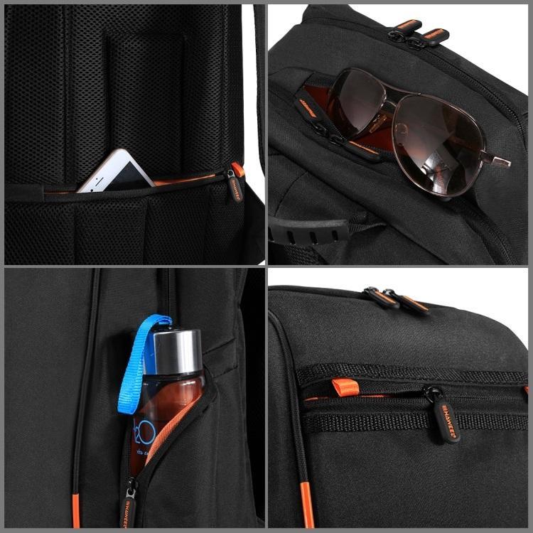 vodozashhishhennyj usb rjukzak s solnechnoj panelju 7vt haweel 2160l 05 - Водозащищенный USB-рюкзак с солнечной панелью 7Вт HAWEEL 2160L